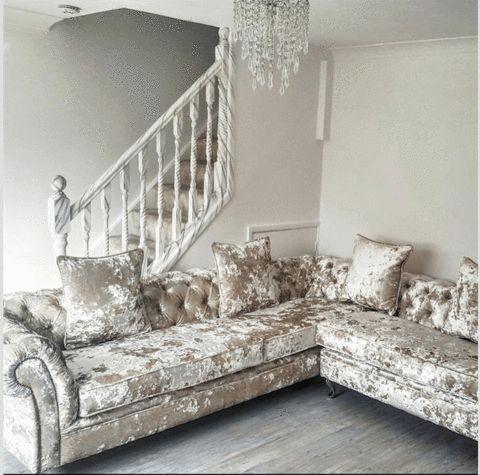 A Victoria Collection Corner Sofa - House of Sparkles