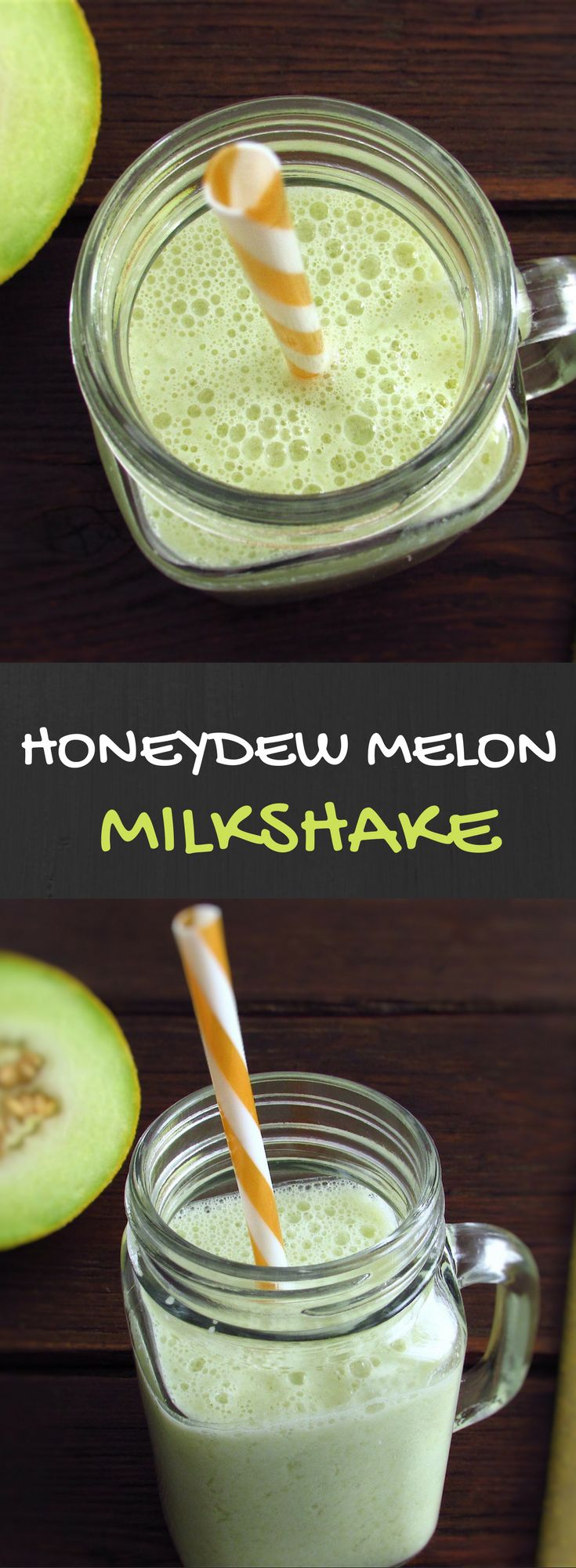 Honeydew melon milkshake   Food From Portugal. Want to prepare a refreshing drink for summer? We have a great suggestion for you! A very refreshing honeydew melon milkshake, tasty and easy to prepare. #recipe #milkshake