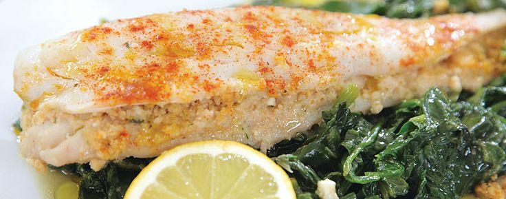 LIDL Ψάρι ψημένο επάνω σε σπανάκι
