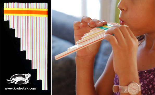 Making music with straws. Can you make them sing?