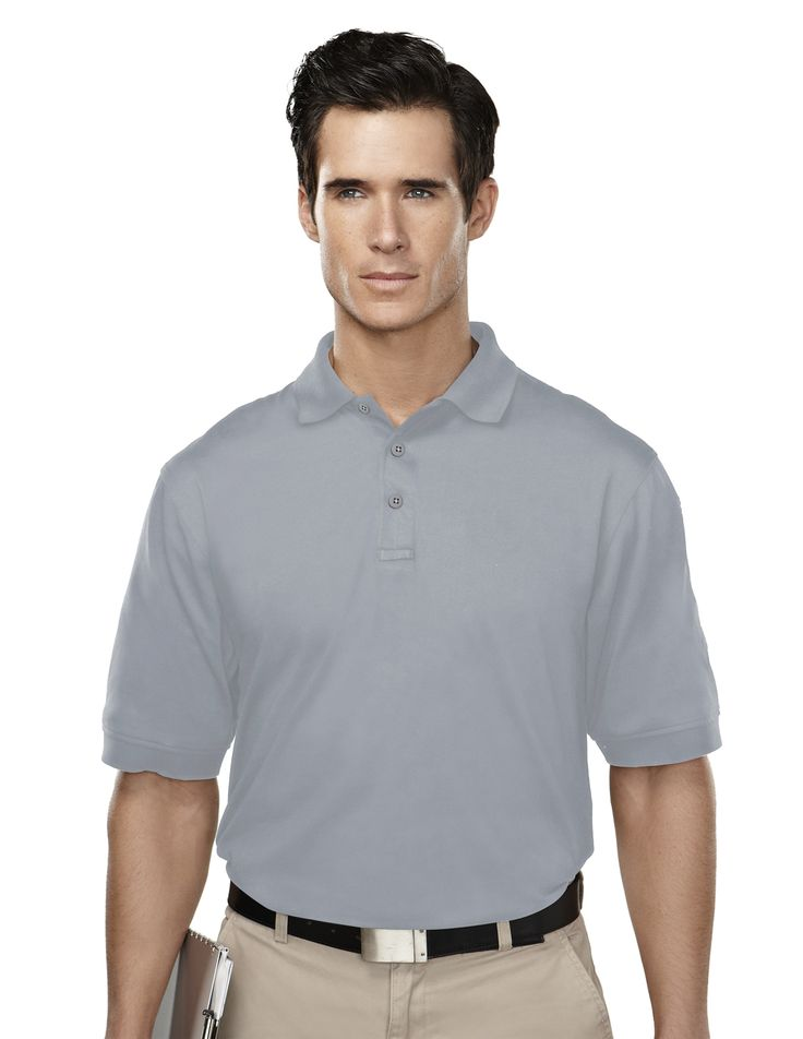 Men's Knit Polo Shirt, With Mic Loops & Pen Pocket (60% Cotton/ 40% Polyester).  Tri mountain 014 #penpocket #KnitShirt  #poloShirt #Trimountain  #Menswear #men