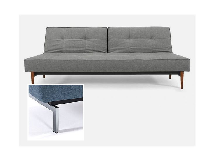 Sofa Splitback szara 216 nogi chromowane — Sofy INNOVATION iStyle — sfmeble.pl