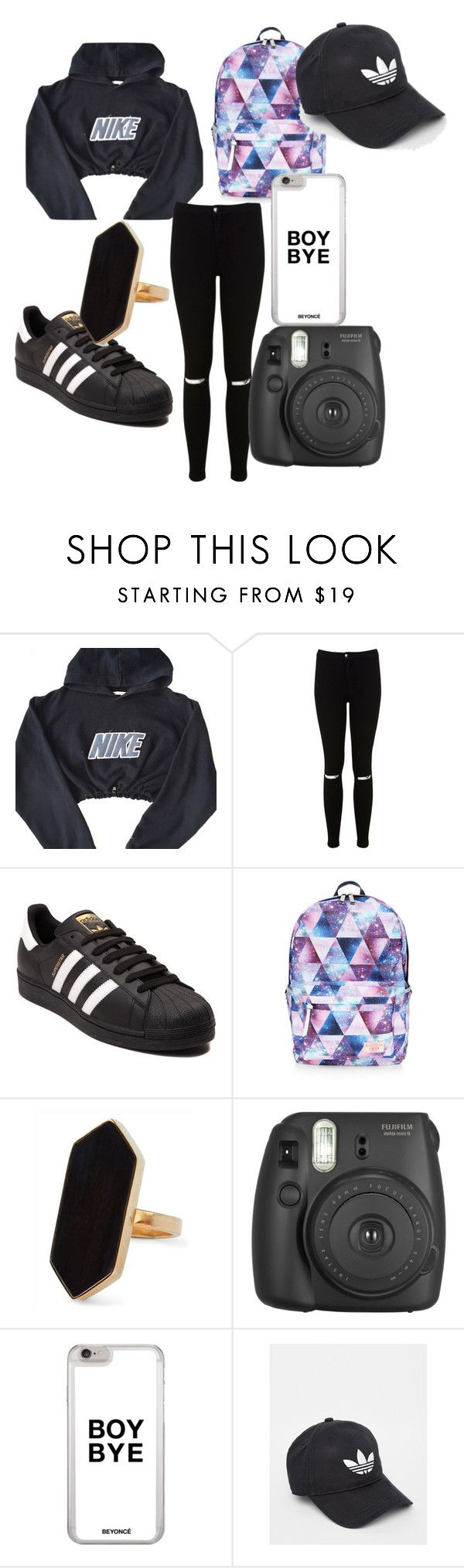 """at night"" by queenshania ❤ liked on Polyvore featuring NIKE, Miss Selfridge, adidas, Accessorize and Jaeger"