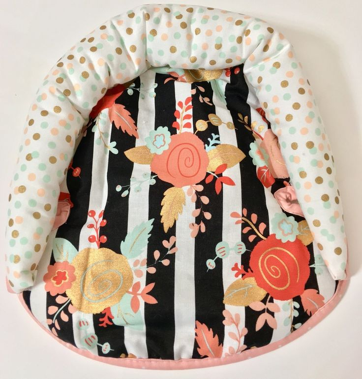Ritzy Baby Designs, LLC - Striped Floral and Polka Dot Infant Head Support, $29.00 (http://www.ritzybaby.com/striped-floral-and-polka-dot-infant-head-support/)