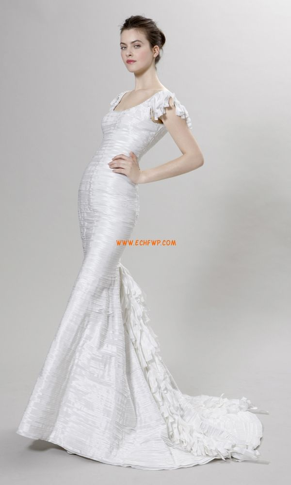 Hala Délka dvorní Bez rukávů Levné svatební šaty