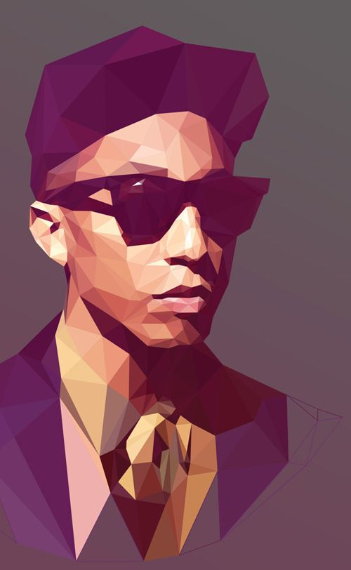 Low-Poly Portrait Illustrations for Inspiration - 4 #lowpoly #illustration #lowpolyportrait