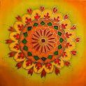 Bőség mandala silk painting