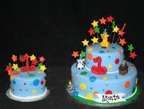 colorfull party birthday cake1 1st Birthday Cake Ideas