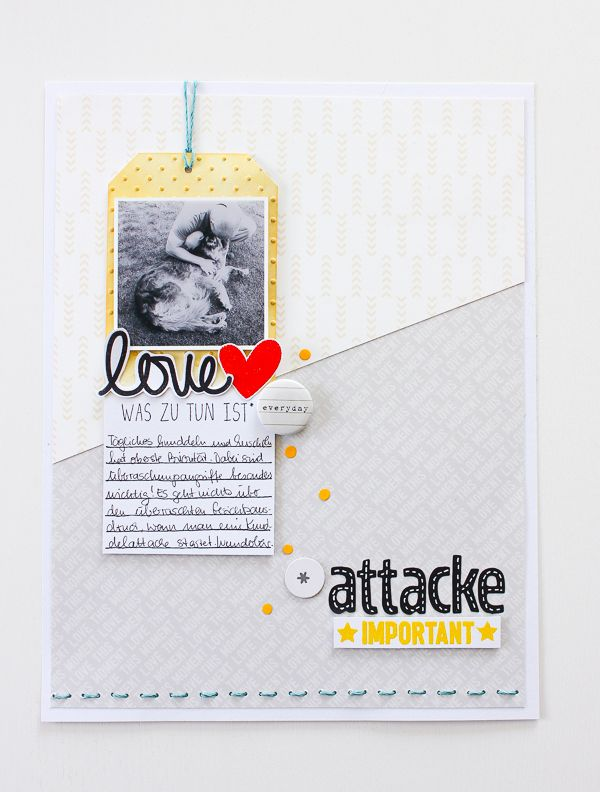 "Film-Freitag mit Janna Werner - clean and simple 8.5 x 11"" inch scrapbooking layout - Instagram: jannawerner"
