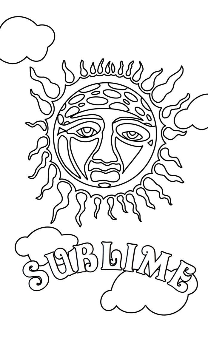 Sublime Badfish Floral Coloringpage Coloringbook Color Printable Cute Coloring Pages Coloring Pages Coloring Books