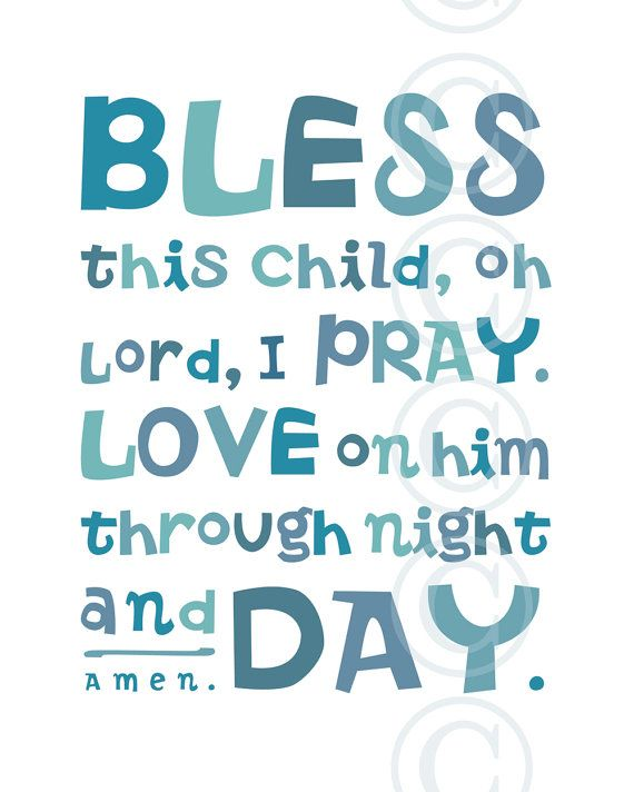 Pink Bless This Child Prayer Christian Word Art For Girls Room