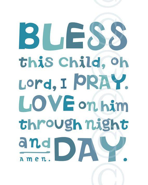 Pink Bless This Child Prayer Christian Word Art For Girl