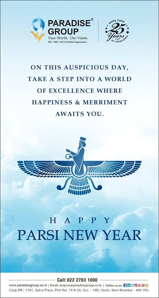Paradise Group wishes you all a very Happy Parsi New Year ...