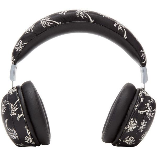 Dolce and Gabbana Black Palm Tree Headphones (1,845 CAD) ❤ liked on Polyvore featuring men's fashion, men's accessories, men's tech accessories and black