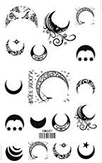 Sun, Star and Moon Tattoo Designs with meaning for on wrist, back, finger or behind the ear. Small full or half moon tattoo designsfor Guys and Girls.