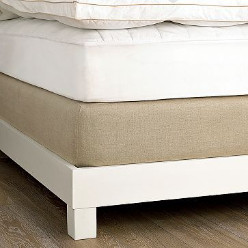 Linen Box-Spring Cover - for box-spring on the floor option (instead of bed frame for now)