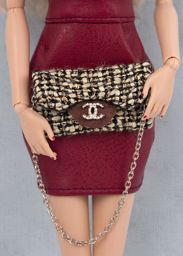 Chanel style purses for Barbie