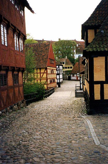 Den Gamle By (The Old Town), living museum. In Aarhus, Denmark.