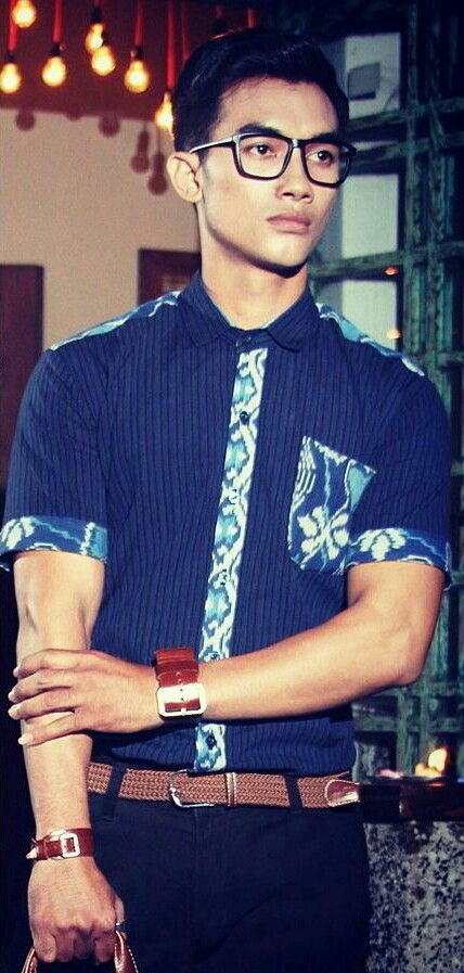 Mavazi summer menswear - Javanese Lurik modified with Balinese Endek weaving fabric for geek modern outfit