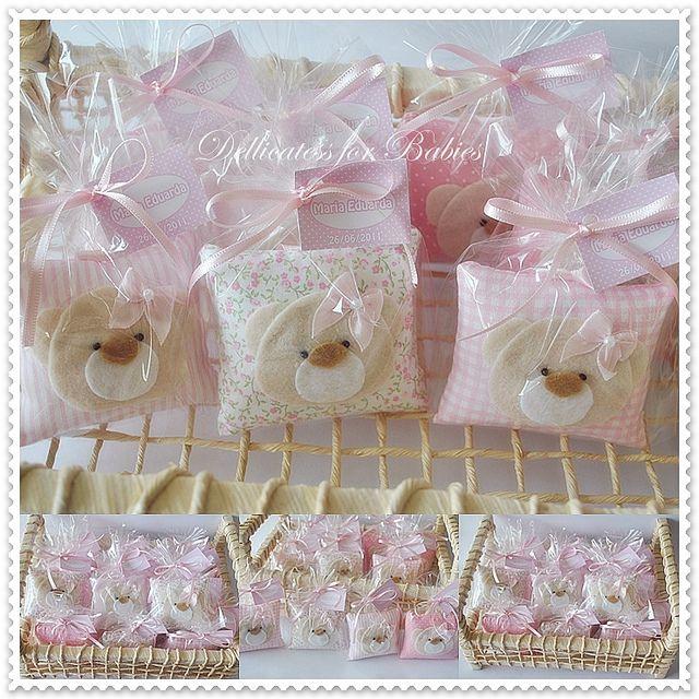 Sachês ursinha...composê em rosa. by ♥ Silvana Domiciano - Dellicatess for Babies ♥, via Flickr