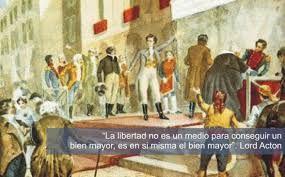 Ideas liberales: defienden la soberanía nacional (elegir a sus representantes mediante voto), la constitución ( con los derechos y deberes de los ciudadanos y que limite el poder del rey) y la separación de poderes ( poder legislativo, el ejecutivo y el judicial)