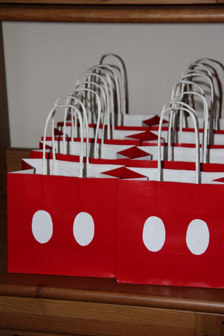 mickey mouse party bags. big hit!