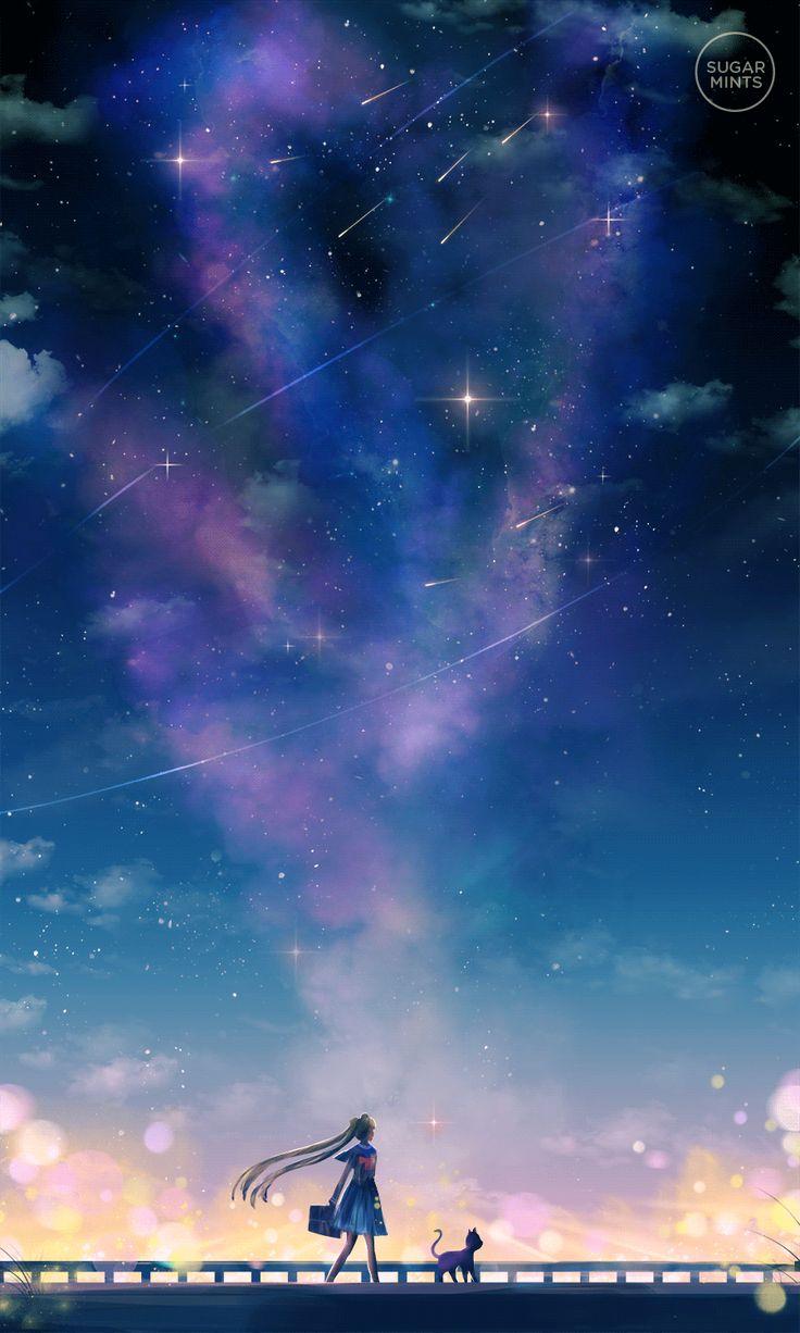 El dar un paseo bajo las estrellas brillantes.