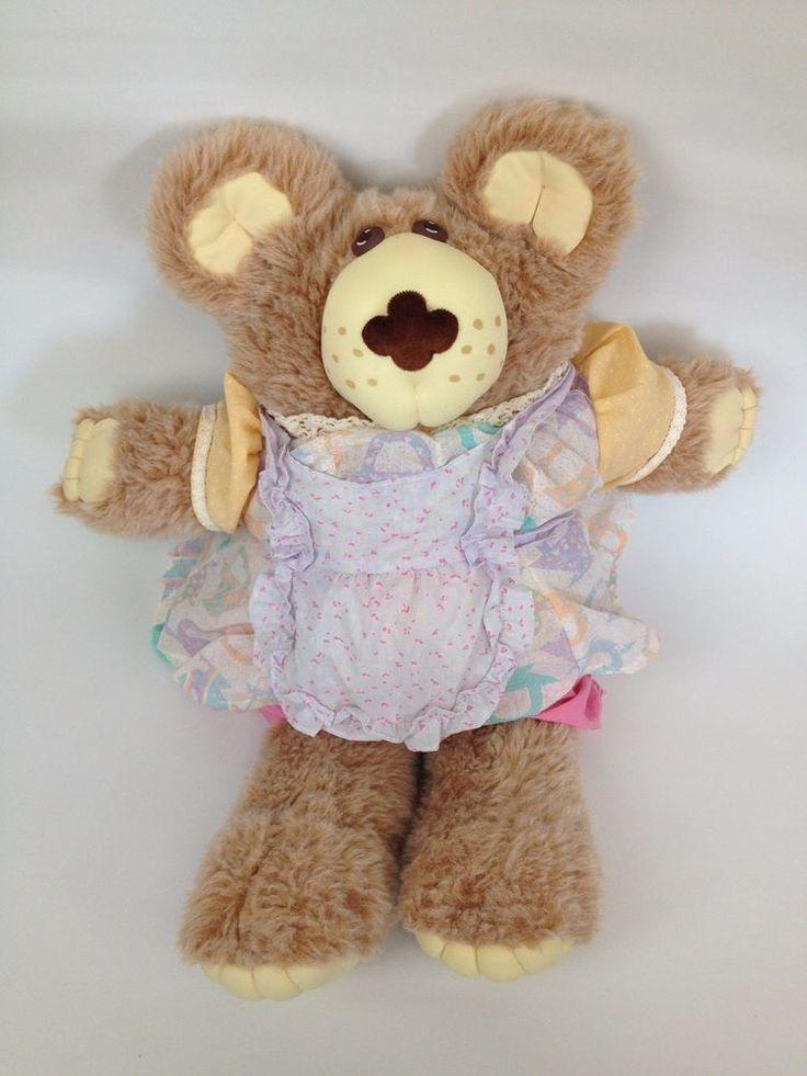 """Furskins 22"""" VTG Plush Teddy Bear Xavier Roberts Cabbage Patch Hattie Pie Baker #FurskinsbyXavierRobertsCabbagePatch #PetsAnimals"""