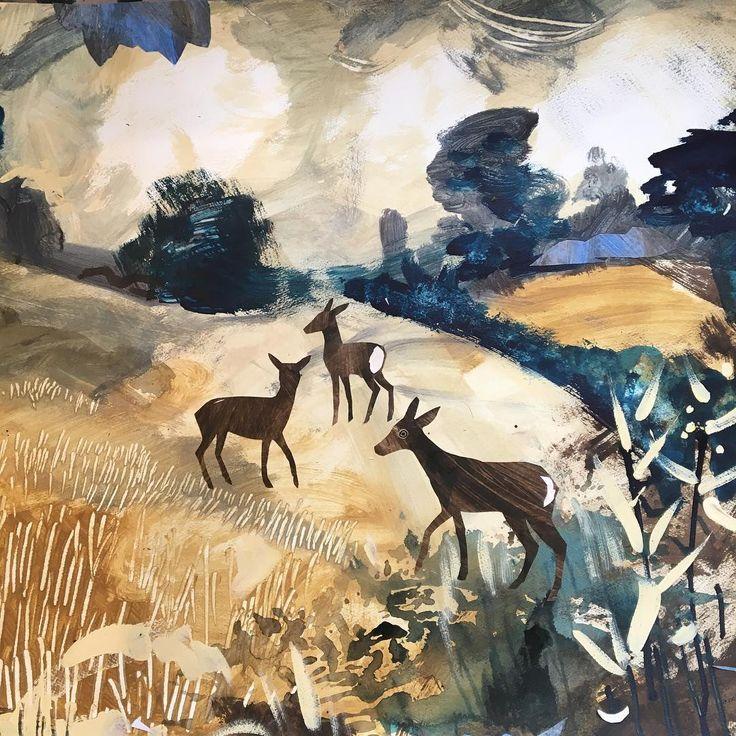 'Roe Deer Spotting' by Mark Hearld