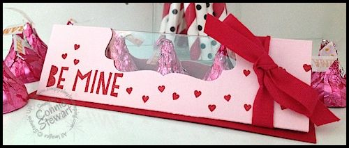 Be Mine Hershey Kisses Window Box by Connie Stewart - Video Tutorial at www.SimplySimpleStamping.com