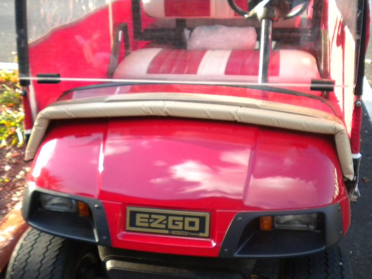 An EZGO accessory to help keep out the wind and cold is a golf cart windshield seal.