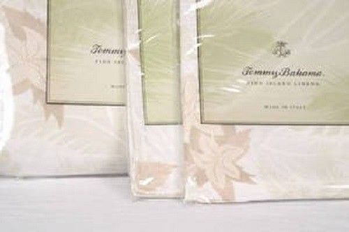 SFERRA TOMMY BAHAMA  Tropical Mosaic Fitted Sheet  Coconut New Below Wholesale #SferraTommyBahama
