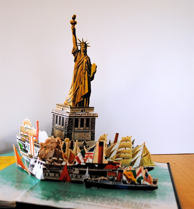 statue of liberty pop up book first edition