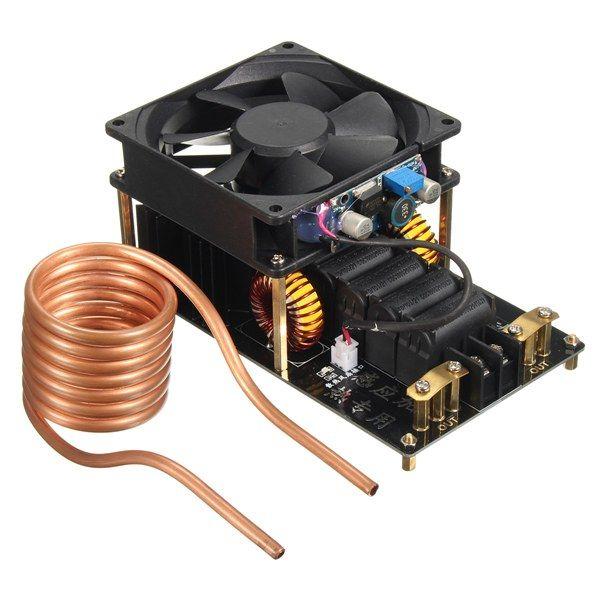 Geekcreit® 1000W 20A ZVS Máquina de aquecimento por indução Ventilador PCB Cobre Tubo 12-36V