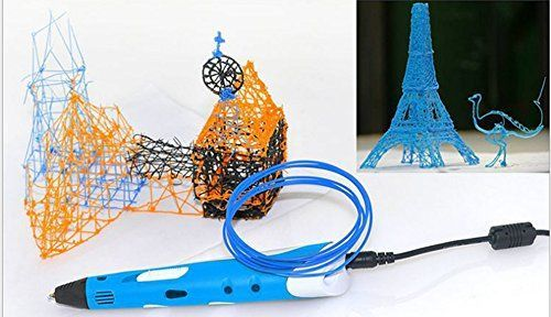 3D Printing Pen Drawing Filament Modeling Stereoscopic ABS Printer Arts Tool Blue >>> Be sure to check out this awesome product.