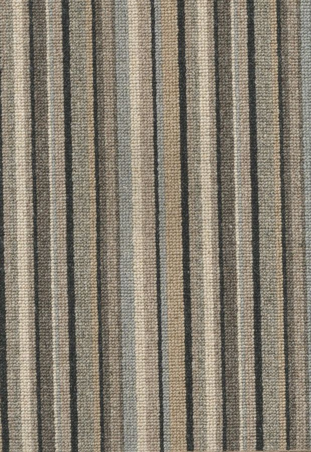 Neutral stripe carpet for stairs.