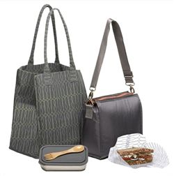 U-Konserve Waste-Free Lunch Kit, BPA-free, stainless steel containers, reusable insulated lunch tote, recycled lunch bag, sandwich wrap, sandwich bag, sandwich wrapper, reusable baggies, bamboo utensil, eco-friendly kit