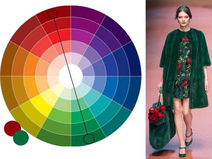 цветовой круг сочетания в одежде фото