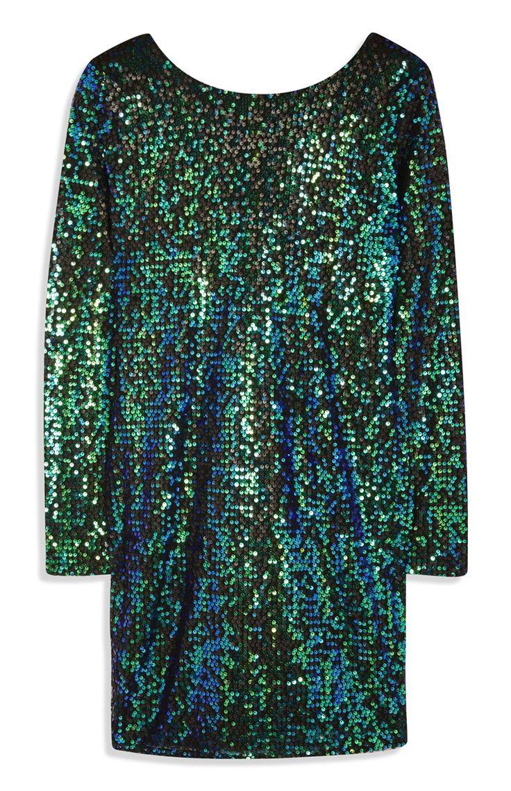 Primark - Green Sequin Dress