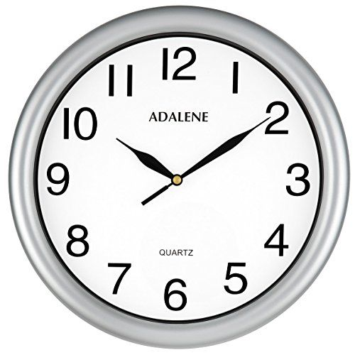 Adalene Wall Clocks Battery Operated Non Ticking - 11.5 Inch Silver Wall Clock Silent, Black Large Numbers, Quiet Analog Quartz Decorative Wall Clock For Kids Bedrooms, Living Room, Kitchen, Bathroom #Adalene #Wall #Clocks #Battery #Operated #Ticking #Inch #Silver #Clock #Silent, #Black #Large #Numbers, #Quiet #Analog #Quartz #Decorative #Kids #Bedrooms, #Living #Room, #Kitchen, #Bathroom