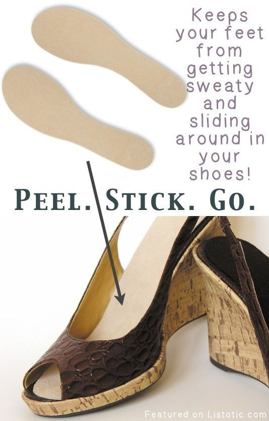 Summer Soles Do you have any of those sandals or heels that seem to have a vinyl lining, making your feet sweat and slide around in your shoes?  These insoles are made to absorb moisture, and so thin they won't change the fit and feel of your shoes! They can also be easily cut and trimmed to just the right size.  Amazon.com
