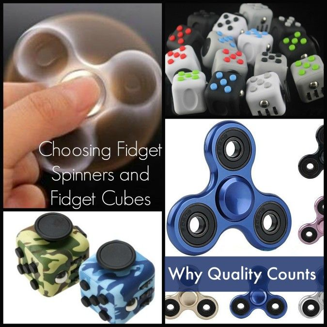 Choosing Fidget Spinners and Fidget Cubes: Why Quality Counts - Learning Express Store - Aluminum alloy metal fidget spinners offer ninja-like speed, spin the longest and are quietest (best for school).