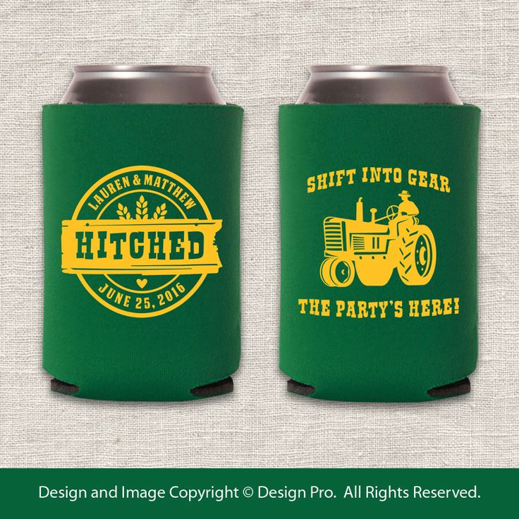 Shift Into Gear - Tractor Wedding Huggie by designpro1 on Etsy https://www.etsy.com/listing/216560973/shift-into-gear-tractor-wedding-huggie
