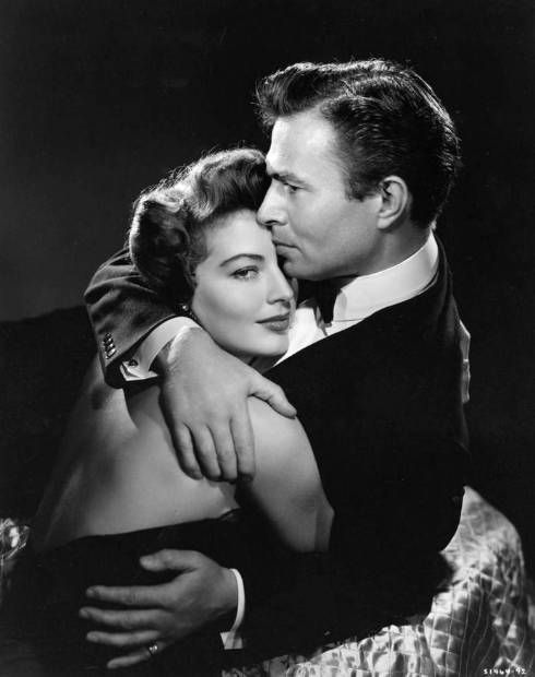 """Ava Gardner playing bad girl Isabelle Lorrison along with James Mason in """"East Side, West Side"""" - 1949"""