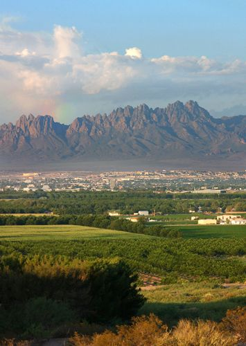 This photo is of Las Cruces, New Mexico and the Organ Mountains. (NMSU Photo taken by Darren Phillips)