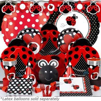 Ladybug party supplies. Cute theme for spring party too