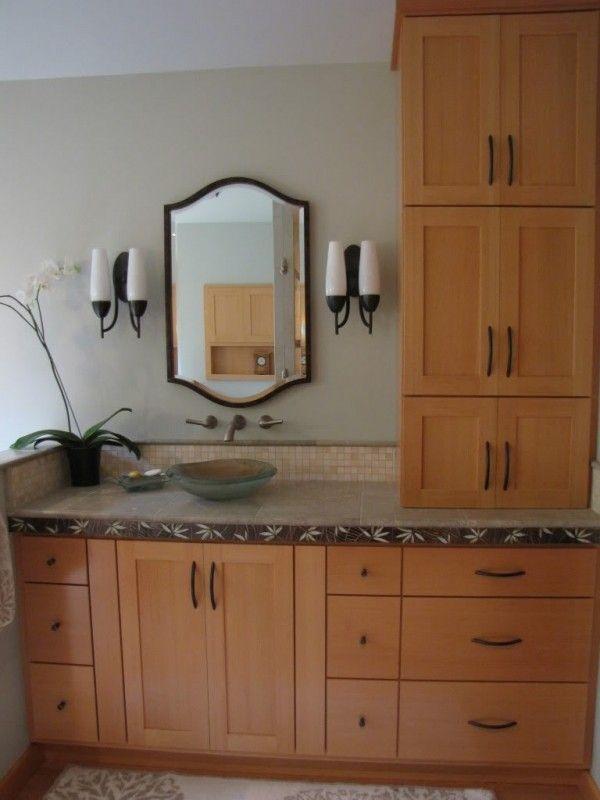 Best Bathroom Towers Images On Pinterest Bathroom Bathroom - Bathroom vanity with linen tower for bathroom decor ideas