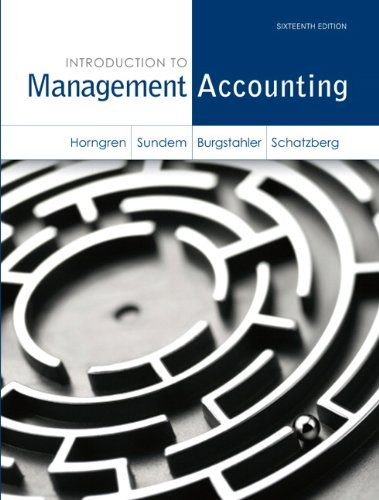 Download free Introduction to Management Accounting (16th Edition) pdf