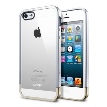 SPIGEN SGP iPhone 5 Case Linear Metal Crystal - Metal Silver