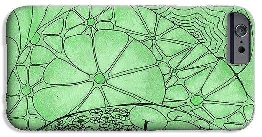 Green Zentangle iPhone 6 Case